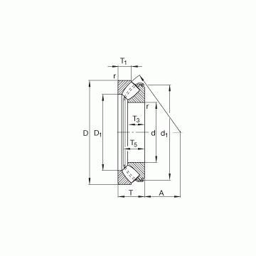 RCT11 INA Rodamientos de rodillos de empuje