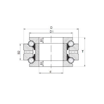 NUP 209 ECPH SKF Rodamientos de bolas de empuje
