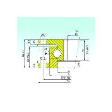 ZBL.20.0644.201-2SPTN ISB Rodamientos de bolas de empuje