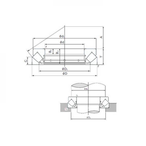 238/750K NTN Rodamientos de rodillos de empuje