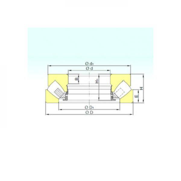 RB 13015 ISB Rodamientos de rodillos de empuje