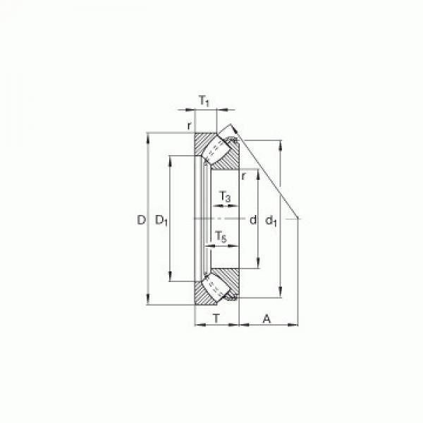 CRBS 1308 V UU IKO Rodamientos de rodillos de empuje