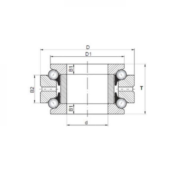 234409 ISO Rodamientos de bolas de empuje