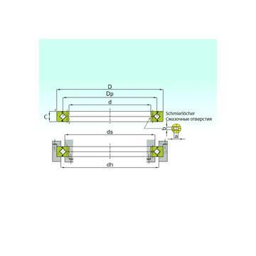 81126TN NBS Rodamientos de rodillos de empuje